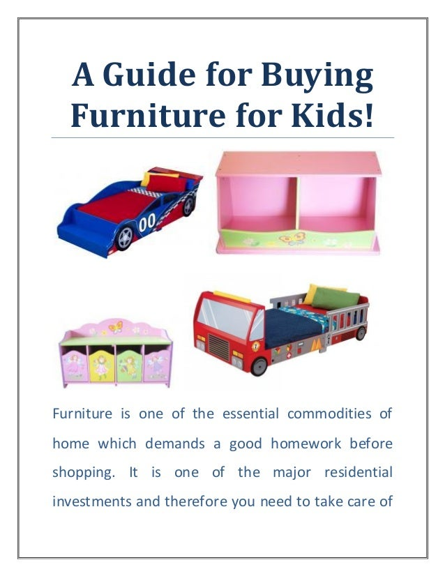 A Guide For Buying Furniture For Kids