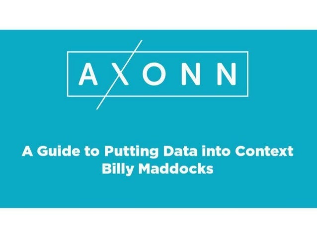 A guide for putting data into context