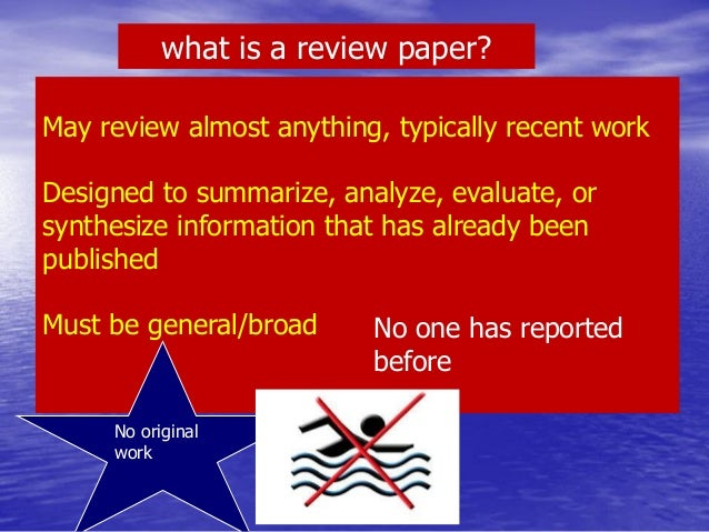 HOW TO WRITE A REVIEW PAPER?