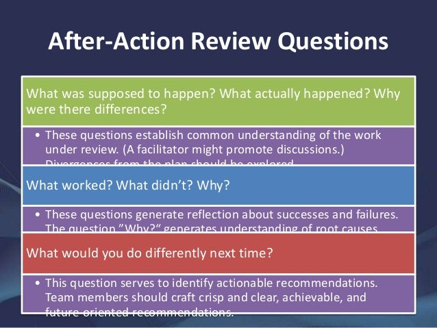 After action review of the london