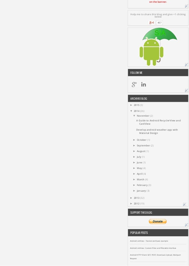A guide to android recycler view and cardview