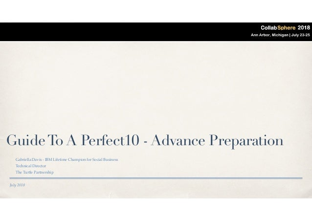 The Road To A #Perfect10 - How To Get Ready For Domino, Sametime, V…