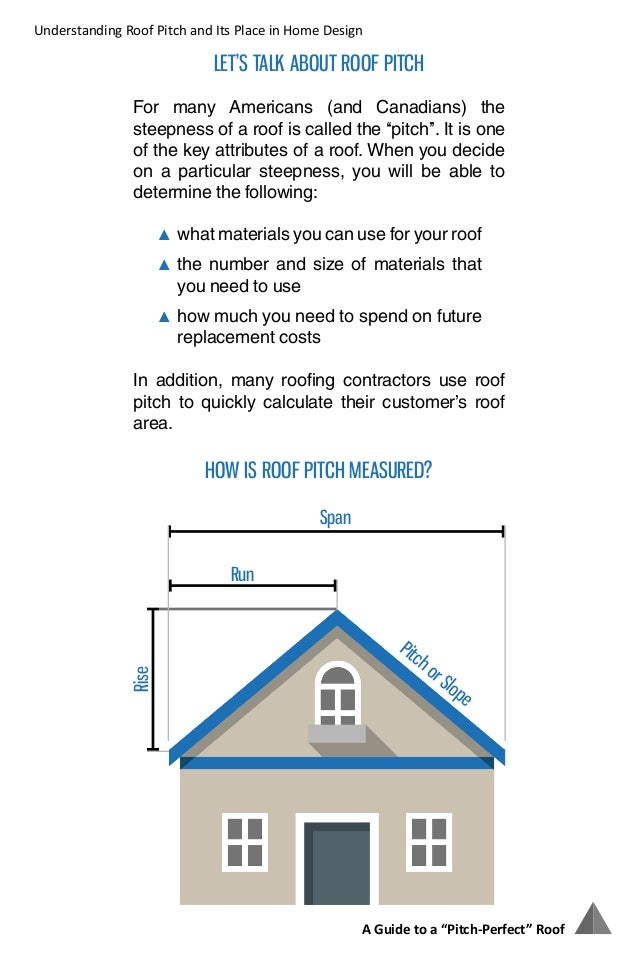 A Guide To A Quot Pitch Perfect Quot Roof