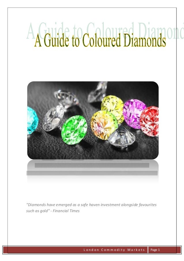"""Diamonds have emerged as a safe haven investment alongside favouritessuch as gold"" - Financial Times                     ..."