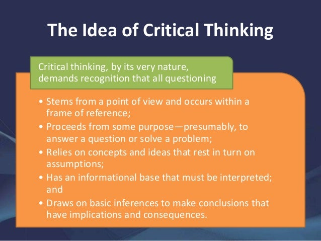 critical thinking tools for taking charge of your