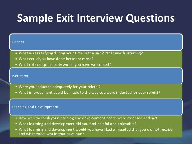 A Guide to Exit Interviews – Exit Interview Form