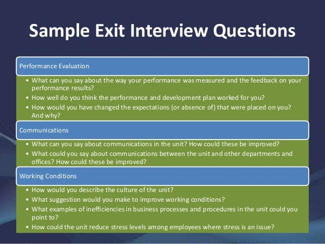 A Guide to Exit Interviews