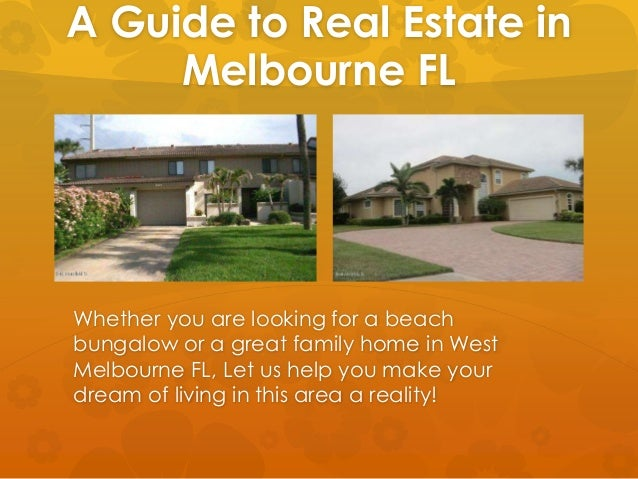 A Guide To Melbourne Florida Real Estate C21 Indian