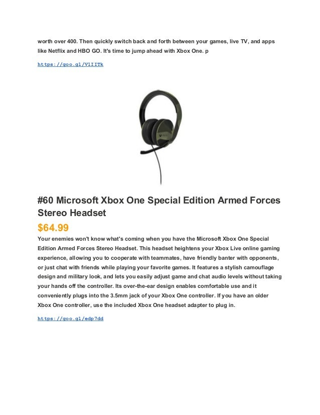 A Guide To Microsoft Xbox One Product And Price List