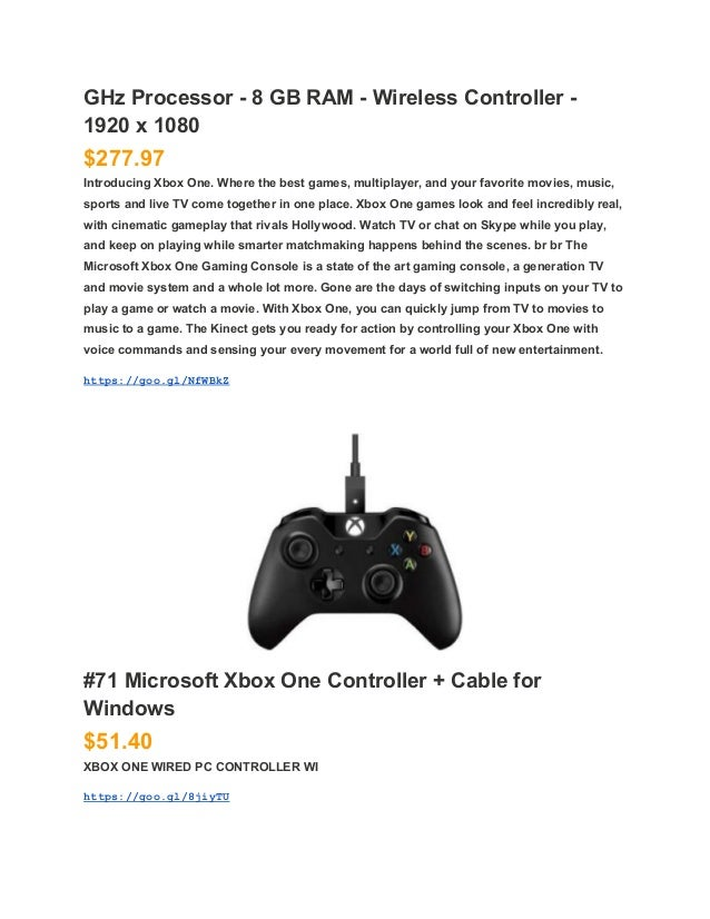 a guide to microsoft xbox one product and price list rh slideshare net Xbox 1 Retail Price xbox 360 games price guide