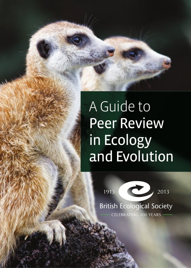 1 A Guide to Peer Review in Ecology and Evolution