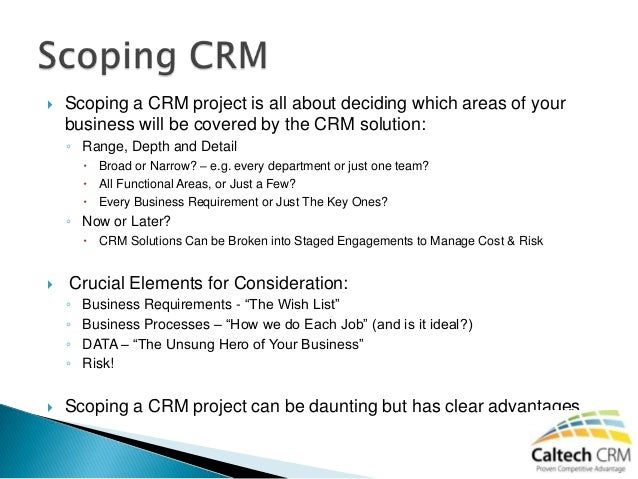A guide to scoping a crm project