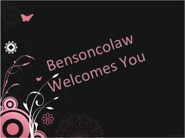 Bensoncolaw Welcomes You