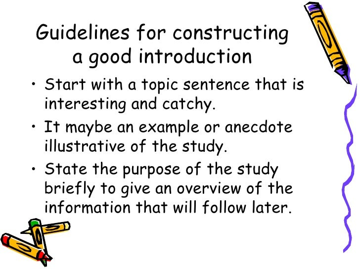 Good introductions for dissertations