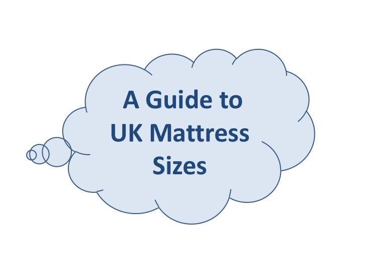 A Guide toUK Mattress   Sizes
