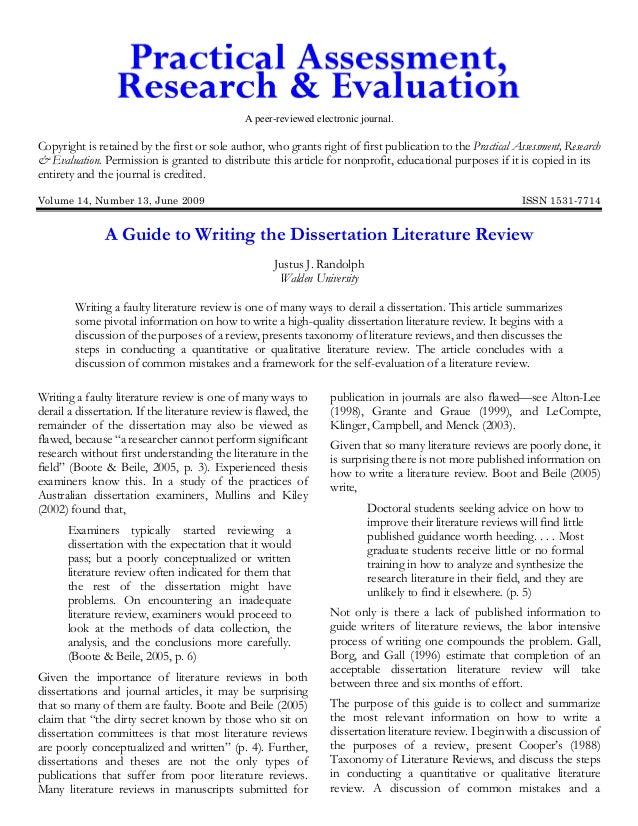 Dissertation literature review services