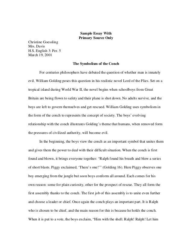 essay on lord of the flies madrat co a guide to writing the literary analysis essay