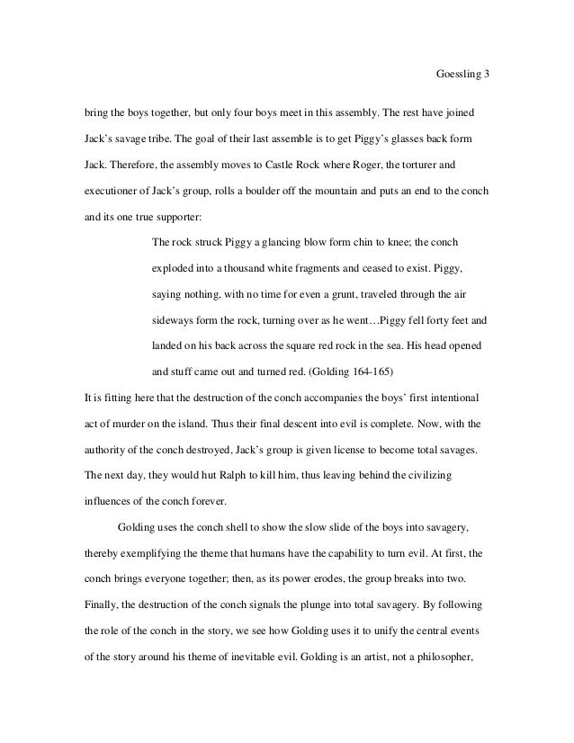 ralphs first impression of piggy essay An essay on william golding's lord of the flies, showing the roles of the principal  characters  the first two characters we encounter are ralph and piggy  its  mountaintop provides a place where they can look over the whole island and its.