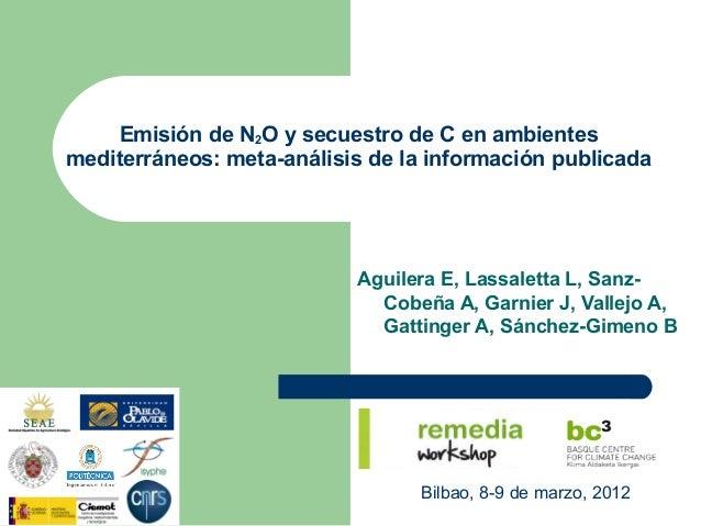 Emisión de N2O y secuestro de C en ambientesmediterráneos: meta-análisis de la información publicada                      ...