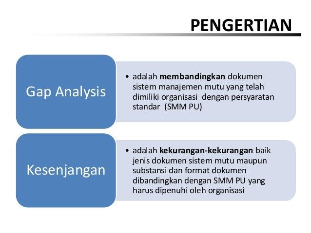 Identifikasi Kebutuhan Dokumen Dan Gap Analysis Pada Smm Pu