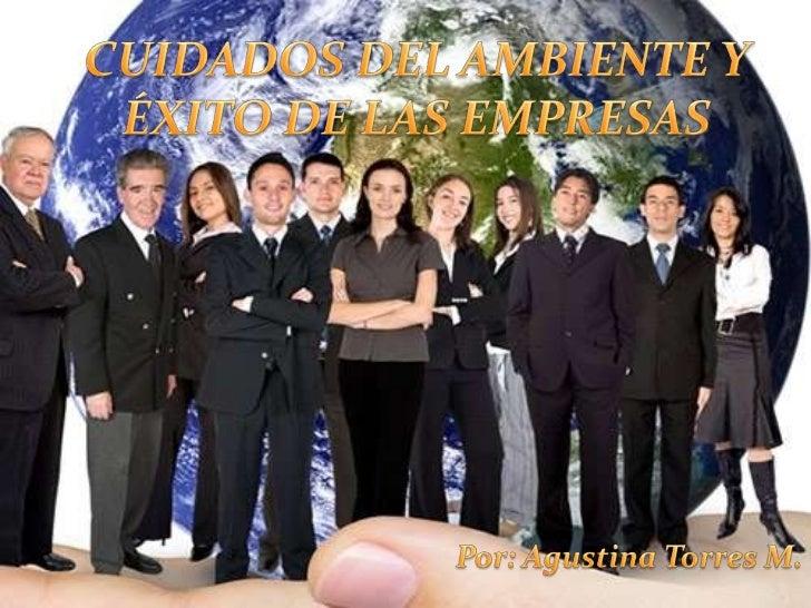 CUIDADOS DEL AMBIENTE Y ÉXITO DE LAS EMPRESAS<br />Por: Agustina Torres M.<br />