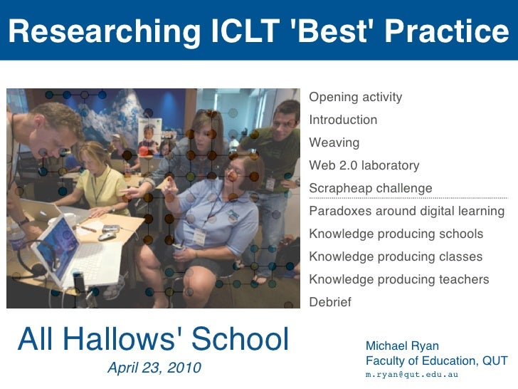 Researching ICLT 'Best' Practice                        Opening activity                        Introduction              ...