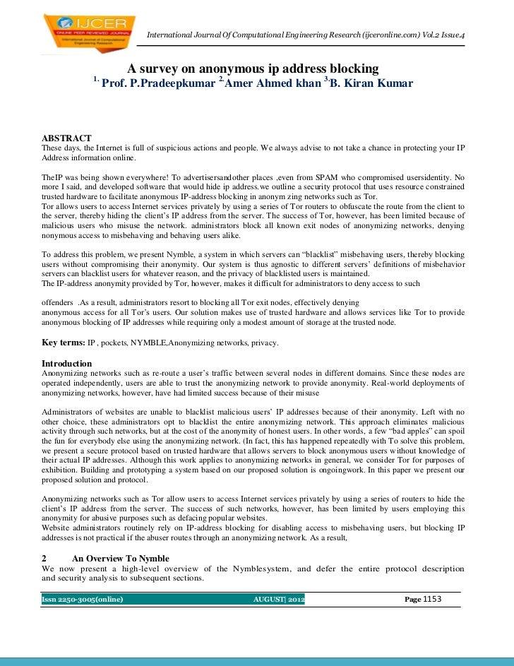 International Journal Of Computational Engineering Research (ijceronline.com) Vol.2 Issue.4                          A sur...