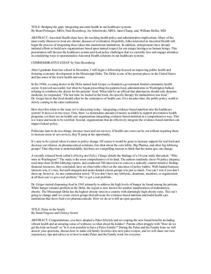 Lobbying Essays (Examples)