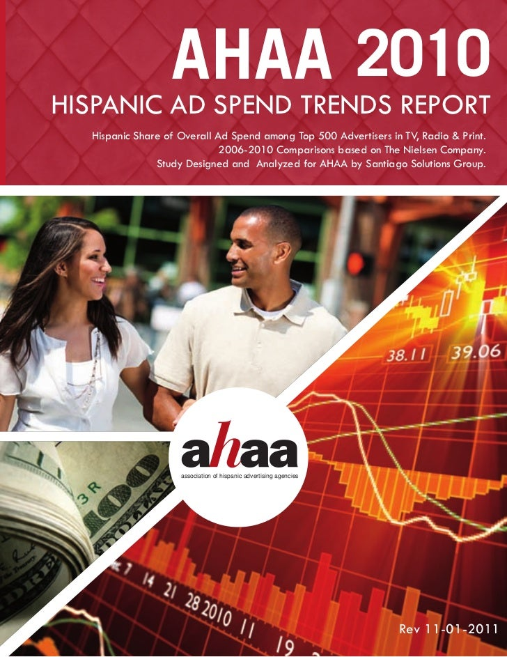 AHAA 2010HISPANIC AD SPEND TRENDS REPORT  Hispanic Share of Overall Ad Spend among Top 500 Advertisers in TV, Radio & Prin...