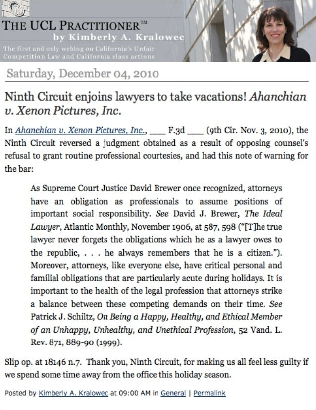 Ahanchian v xenon legal precedent victory press 10-3-10