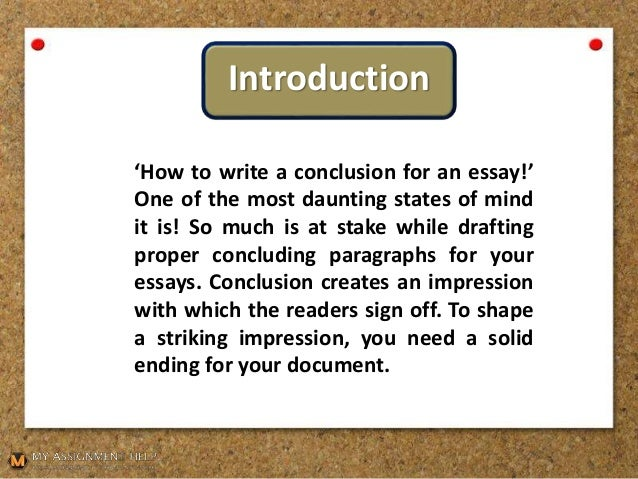 A Handbook On How To Write A Conclusion For An Essay