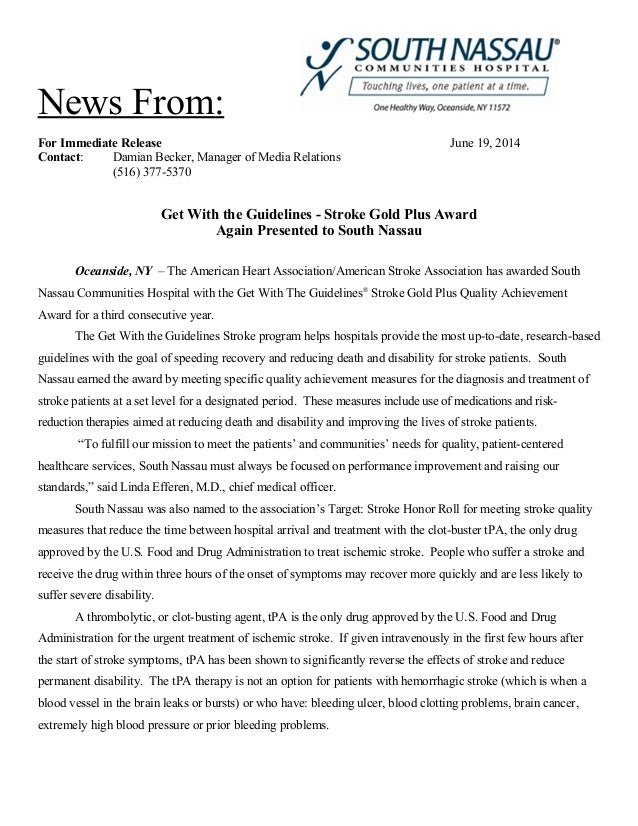 News From: For Immediate Release June 19, 2014 Contact: Damian Becker, Manager of Media Relations (516) 377-5370 Get With ...
