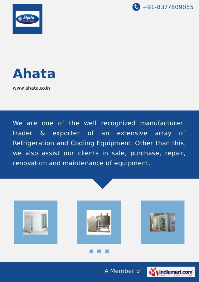 +91-8377809055  A Member of  Ahata  www.ahata.co.in  We are one of the well recognized manufacturer,  trader & exporter of...
