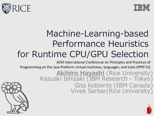 Machine-Learning-based Performance Heuristics for Runtime