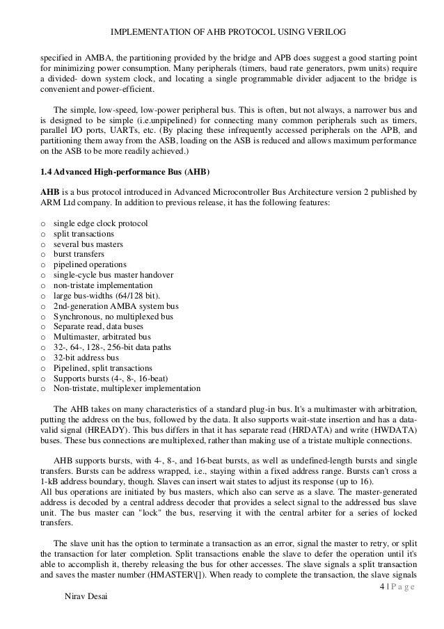 AMBA 2 0 REPORT