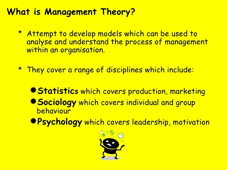 management theorists summaries Leadership management: principles, models and theories 311 16 situation all situations are different what you do in one situation will not always work in.