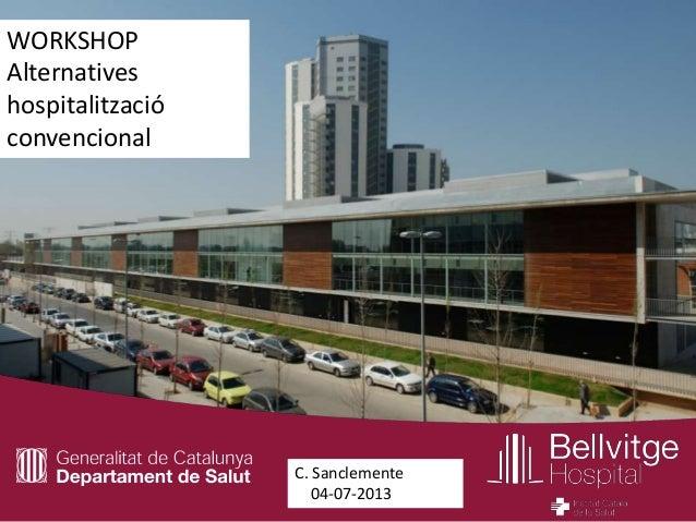 WORKSHOP Alternatives hospitalització convencional  C. Sanclemente 04-07-2013