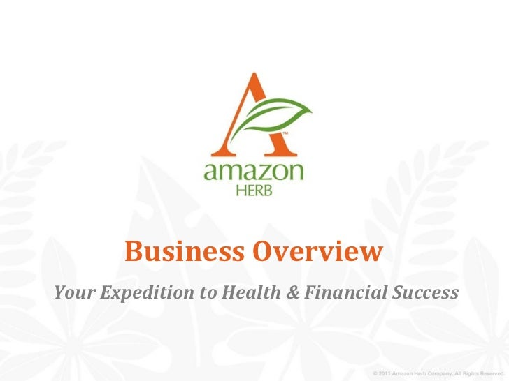 Business OverviewYour Expedition to Health & Financial Success