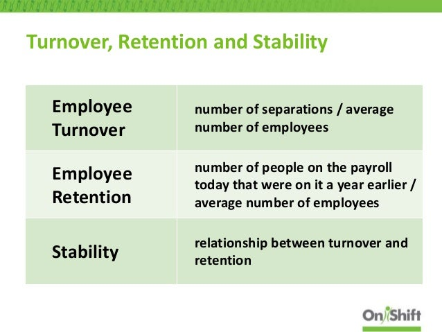 A discussion of employee retention and turnover in the united states