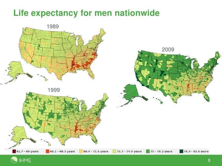 US County Life Expectancy 19892009 Ali Mokdad April 2012