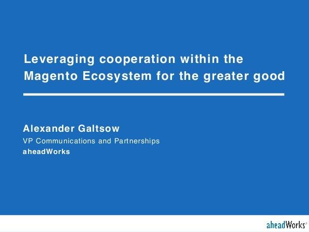 Александр Гальцов (aheadWorks) - Повышение эффективности сотрудничества в рамках экосистемы Magento.