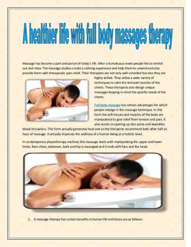 Massage has become a part and parcel of today's life. After a tumultuous week people like to stretch out and relax. The ma...