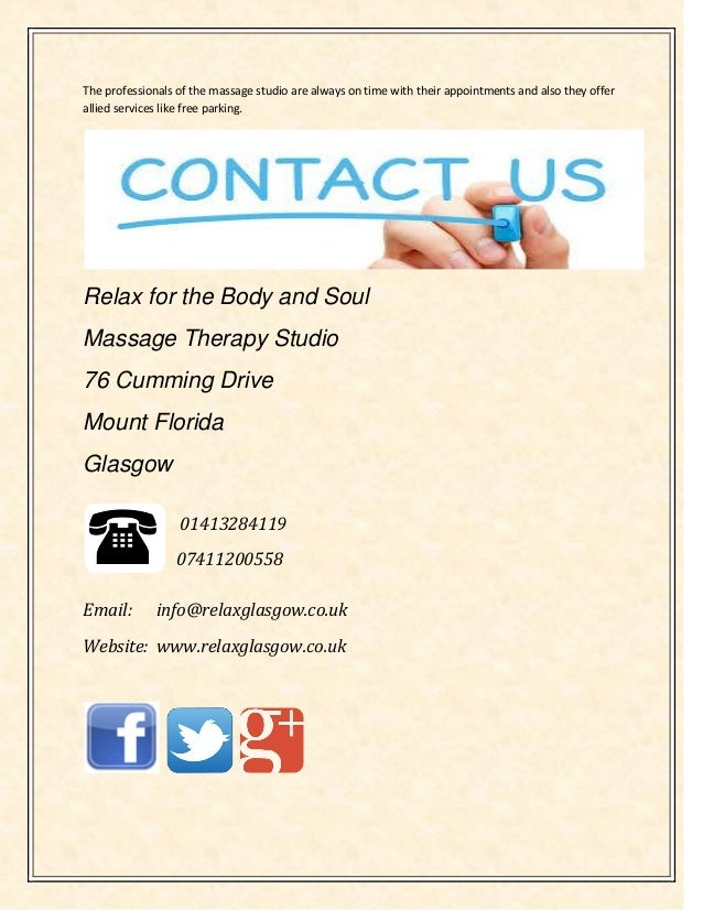 The professionals of the massage studio are always on time with their appointments and also they offer allied services lik...