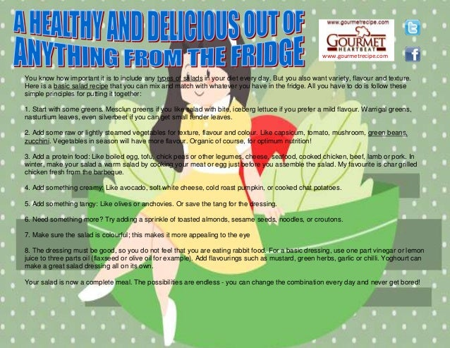 www.gourmetrecipe.com You know how important it is to include any types of salads in your diet every day. But you also wan...
