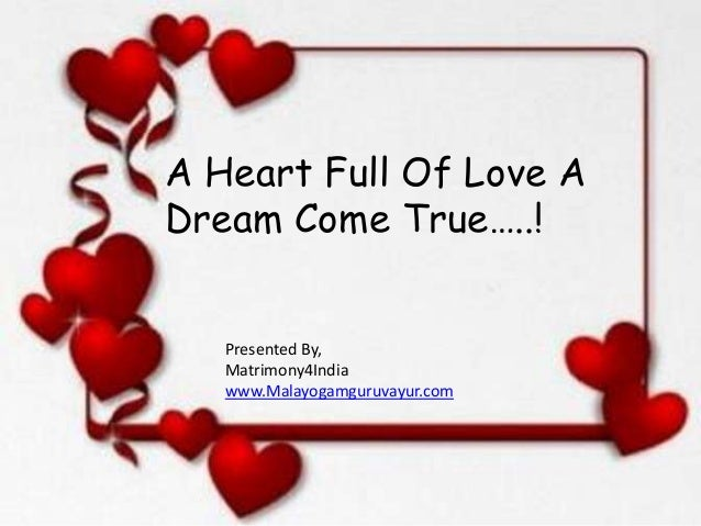 A heart full of love a dream c...