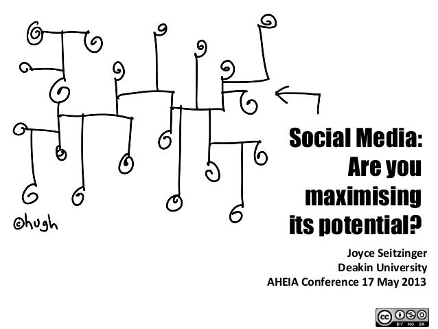 Social Media:Are youmaximisingits potential?Joyce	  Seitzinger	  Deakin	  University	  AHEIA	  Conference	  17	  May	  201...