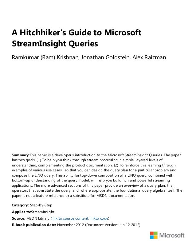 Copyright © 2012 by Microsoft CorporationAll rights reserved. No part of the contents of this book may be reproduced or tr...