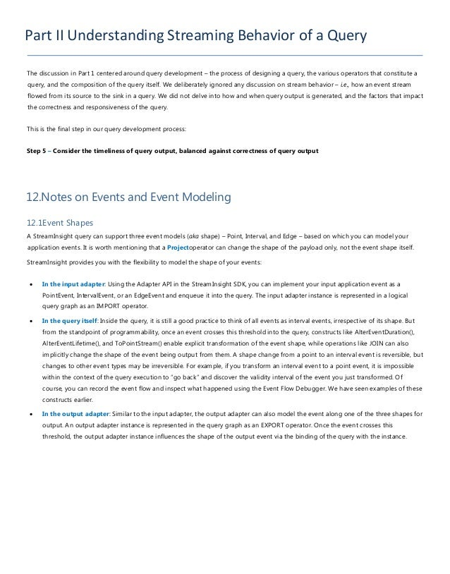 Figure 21. Point Event ExampleWe will briefly look at the various event models in the context of query development, and to...