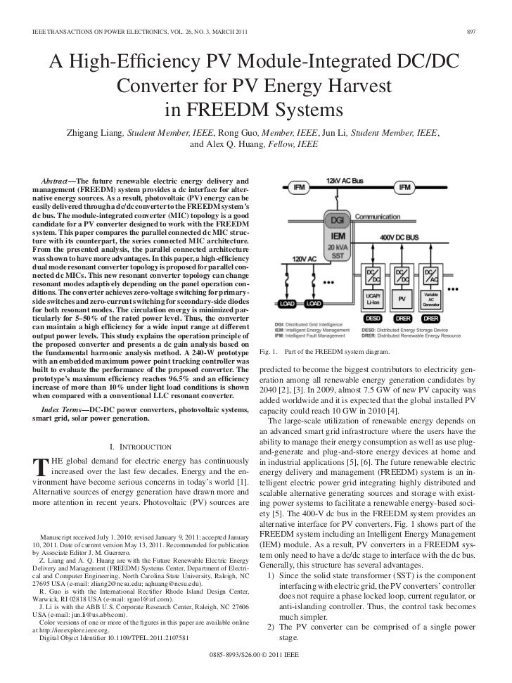 IEEE TRANSACTIONS ON POWER ELECTRONICS, VOL. 26, NO. 3, MARCH 2011                                                        ...