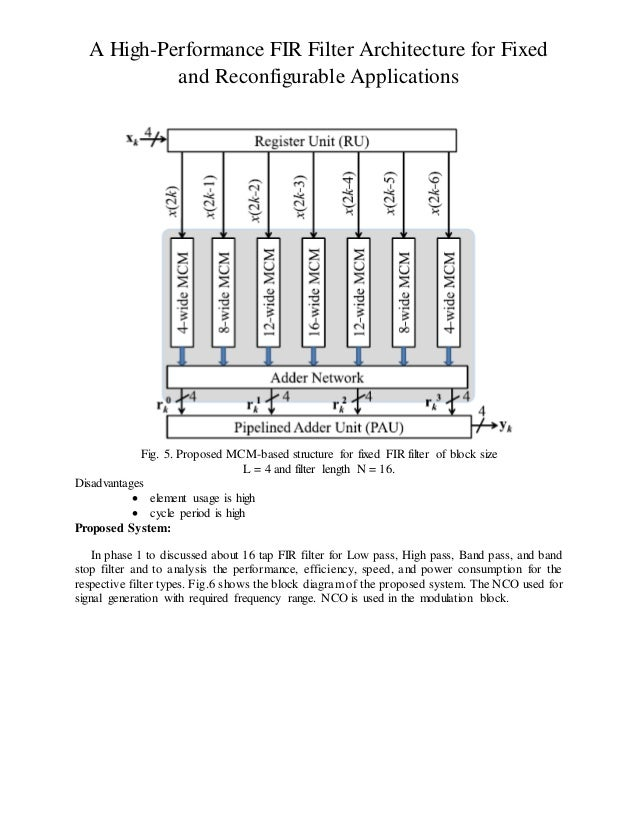 a high performance fir filter architecture for fixed and reconfigurab u2026
